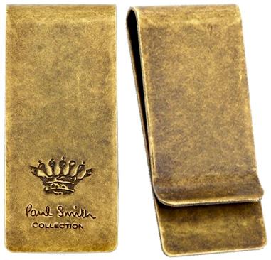 Paul Smith ポールスミスアンティークゴールド マネークリップロゴ刻印 王冠 エンボス英国クラウンアクセサリー 財布 札挟みメンズ レディース 男女兼用お札を簡単に挟めますお財布を持ち歩くのは好まないといった方にMONEY CLIP