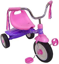 RADIO FLYER ラジオフライヤーTrikes & Bikes 三輪車&自転車Ready to Ride Girls Trike #66G折りたた式3輪車ピンク×パープルワンタッチで折り畳める!