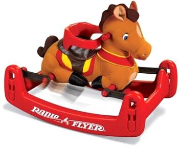 RADIO FLYER ラジオフライヤーRide Ons 乗用玩具Classic Rock & Bounce Pony #353クラシックロック&バウンスポニー木馬モチーフ前後のスイングや上下の浮き沈みの動きが楽しめます耳から馬の鳴き声がします