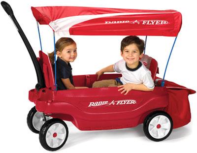 RADIO FLYER ラジオフライヤーWagon 乗用玩具Ultimate Comfort Wagon #3180On the go Comfortアルティミットコンフォートワゴン安全ベルト、取り外しシートパット、ドリンクホルダ、収納バッグ、日除け