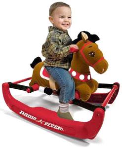 RADIO FLYER ラジオフライヤーRide Ons 乗用玩具Soft Rock & Bounce Pony w/Sound #3542 Ways to Play - With Sound!ソフトロック&バウンスポニー木馬モチーフ前後のスイングや上下の浮き沈みの動きが楽しめます