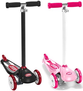 RADIO FLYER ラジオフライヤーRide Ons 乗用玩具三輪キックスクーターバイクバランスを養うにはコレ! ピンク ブラック前輪が二輪で安定感抜群折りたたんで収納かわいい3輪のキックボードです。キックボード スケーターバイク ba0069