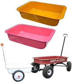 RADIO FLYER收音机做油炸食品的人Custom Parts特别定做零件Wagons Original Wagon Trailer手推车原始物拖车白橘黄色粉红