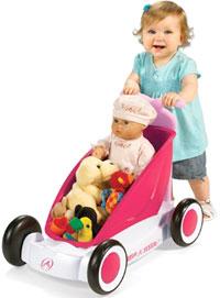 RADIO FLYER ラジオフライヤーRide Ons 乗用玩具3-In-1 Walker Wagon #312Bライドオンキックカー、手押し車、ワゴントローリー台車と用途にあわせて長く使えます。カタカタ ウォーカー おもちゃ箱ピンク