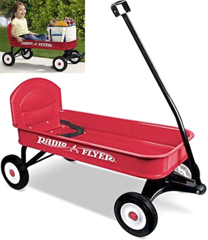 RADIO FLYER ラジオフライヤーSteel & Wood Wagons スチール&ウッドワゴンRanger Wagon #93B椅子つきのワゴンレッド 4輪車