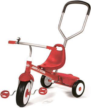RADIO FLYER ラジオフライヤーTrikes & Bikes 三輪車&自転車Deluxe Steer & Stroll Trike レッド前輪操作が可能な取り外し可能プッシュハンドル付きの三輪車です。