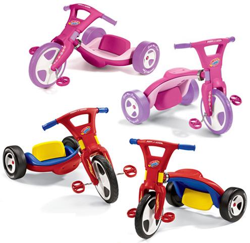 RADIO FLYER ラジオフライヤーレッド×ブルー×イエロー ピンク×パープル本体を回転させることにより二通りの乗り方ができる三輪車Trikes & Bikes 三輪車&自転車Little Miss Flyer Twist Trike #442G