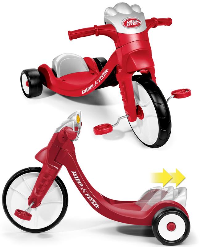 RADIO FLYER ラジオフライヤーはじめての三輪車にウィンカーが点灯したり音が鳴るレッド×シルバー×ホワイト背もたれ付きでペダルがこぎ易いスライドシート調整可能Ready to Ride Girls Trike Trikes & Bikes初めて3輪車に乗るお子様にお勧め