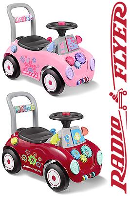 RADIO FLYER ラジオフライヤーお子様用乗り物おもちゃキックカー 足蹴り車 レッド ピンク色んな遊び方が詰まった乗用玩具17個の楽しい仕掛け 足けり乗用玩具手押し車としても遊べますRide Ons Car Pink Red
