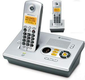 Motorola MD7161-2  Cordless Telephone モトローラーデジタルコードレス 留守番機能付き電話機 Motorola MD7161-2  Cordless Telephone [親機用コードレス&増設用コードレス子機]