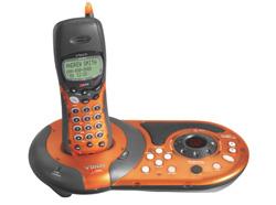 アメリカ限定発売! ブイテック電話機(3カラー着せ替え)2.4GHzデジタルクリア高音質&留守番電話機能付きVtech gz2456 VMIX Phone/with Answering
