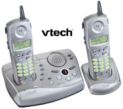 Vtech ip5852ブイテック デジタルコードレスフォン2.4GHz 留守番機能付き電話機Cordless Telephone親機用コードレス&コードレス子機