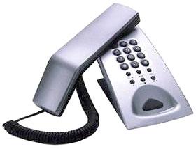 エンツァー 海外デザイン電話機ENZER ET-8409角度のある受話器がワンポイントスタイリッシュでありながら、少し丸みをおびデザインでどんな場所でも溶け込むデスクトップ、壁掛け可能短縮ダイヤル搭載