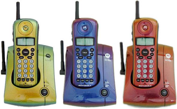 摩托罗拉摩托罗拉手机无绳电话 mazoora 颜色模拟无线手机基础单位为两个无绳孩子无绳电话黄色橙色紫色简单冯橙金蓝色紫色绿色黄色的