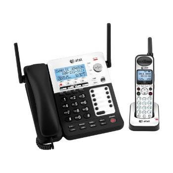 1台で4回線を利用可能スーパーテレフォンAT&T デジタルコードレスフォン盗聴がされ難く、クリアな音声通話が可能なDECT6.0方式採用デジタル留守電話機能付き電話機コード付き親機ブラック×シルバー ワイヤレス子機シルバー子機増設可能