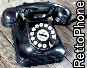昔何処かで見ていたようなレトロフォン昭和を思い出させる電話機プッシュフォン ブラック受話器のデザインを懐かしむリンリン電話型 ダイヤル型デザイン電話コードを繋ぐだけの簡単設定アナログフォン シンプルフォン