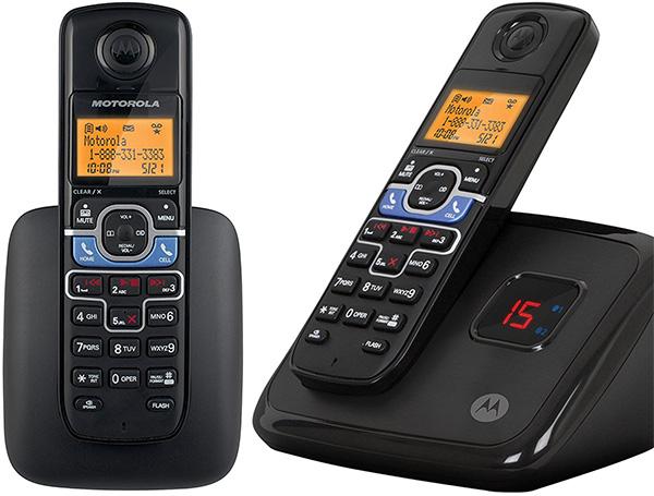 Motorola Bluetooth搭載モトローラーデジタルコードレスフォン盗聴がされ難くクリアな音声通話が可能なDECT6.0採用ブルートゥース対応端末があればヘッドセットやハンズフリーで通話が可能デジタル留守番電話機能付き電話機 ブラック コードレス子機1台付き