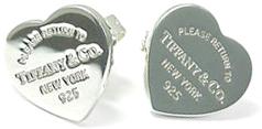 Tiffany&Co. ティファニーRTT リタントゥティファニーハートピアス ミニシルバースターリング シルバーアクセサリーHEART PIERCES MINIPLEASE RETURN TONEW YORK 925ティファニーを代表するモチーフ