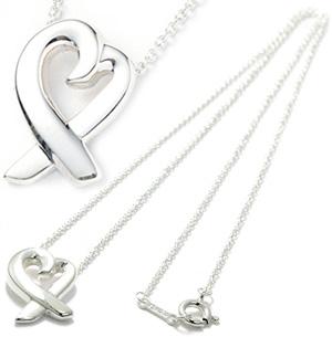 Tiffany&Co. ティファニーT&CO 925シルバーパロマピカソ ラビングハート ペンダントネックレス ラヴィングハートLOVING HEART シルバーチェーンスターリング シルバーPENDANT NECKLACEアクセサリー 925