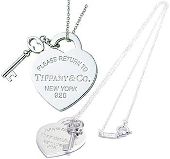 Tiffany&Co. ティファニーリターントゥティファニーキーチャーム&ハートタグプレートT&CO 925シルバー RTT 鍵ペンダントネックレス シルバーチェーンスターリング シルバーアクセサリー 925Return To TiffanyPENDANT NECKLACE