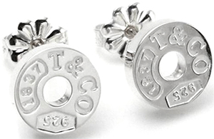 Tiffany&Co. ティファニー1837サークルピアススターリング シルバー925ラウンドプレート 丸型circle pierced earring