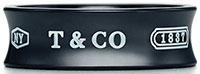 Tiffany&Co. ティファニー 指輪1837 ブラック チタン リングアクセサリーTitanium BLACK RING NY4.0 (約7号)~ 9.0(約19号)ティファニーのロゴと創設年が刻印された1837コレクションチタンリングメンズ レディース