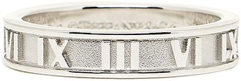 Tiffany&Co. ティファニー 指輪アトラスナローリング浮び上るローマ数字スターリングシルバー アクセサリーATLAS NARROW RINGペアリングとしてもオススメUS4.0~11.5(日本サイズ約9号~約25号)