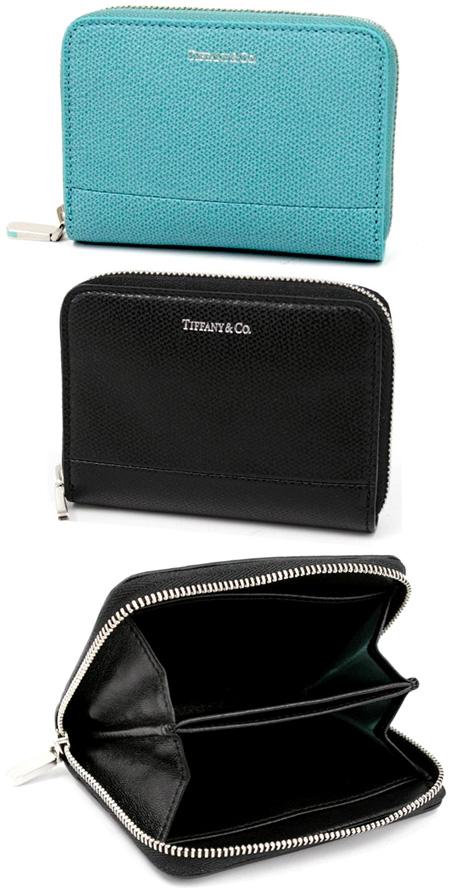 Tiffany&Co. ティファニーラウンドファスナー小銭入れレディース ブラック エメラルドグリーンジップウォレット コインケースZIP ROUND COIN CASE ONXY33758936EBL33780532BK