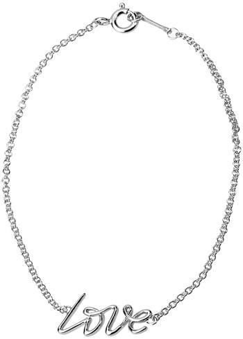 Tiffany&Co. ティファニーラブラインロゴチェーンブレスレット愛をそのまま表現告白&決める記念日にラヴシルバーチェーンスターリング シルバーアクセサリーLOVE LINE CHARM BRACELETPALOMA PICASSO
