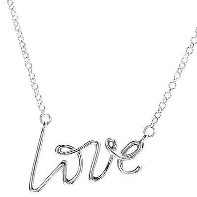Tiffany&Co. ティファニーラブラインロゴチェーンネックレス愛をそのまま表現告白&決める記念日にラヴシルバーチェーンスターリング シルバーアクセサリーグラフティラブLOVE LINE CHARM NECKLACEPALOMA PICASSO