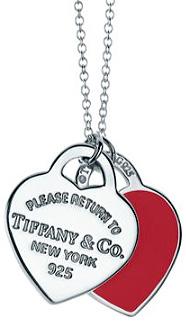 Tiffany&Co. ティファニーリターントゥティファニーダブルハートタグプレート レッドT&CO 925シルバー RTT スモールペンダントネックレス シルバーチェーンスターリングシルバーアクセサリーエナメルフィニッシュRETURN TO TIFFANY