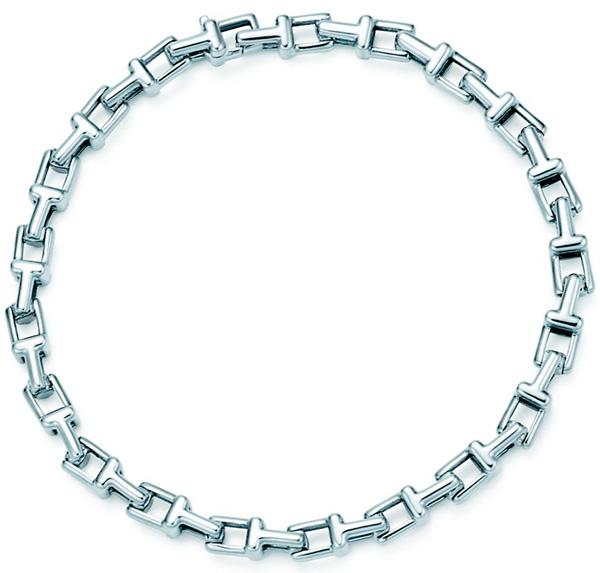 Tiffany&Co. ティファニーT型モチーフのシルバーチャームが連なったティーナローチェーンブレスレットスターリングシルバー アクセサリー約18cm 約19cm 約20cmJEWELRY T-NARROW CHAIN BRACELET