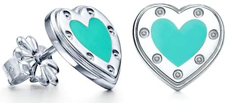 Tiffany&Co. ティファニーRTTハートピアスティファニーブルースターリング シルバー925エナメルフィニッシュR リターントゥティファニーラブハートピアミニRETURN TO TIFFANY HEART PIERCED EARING