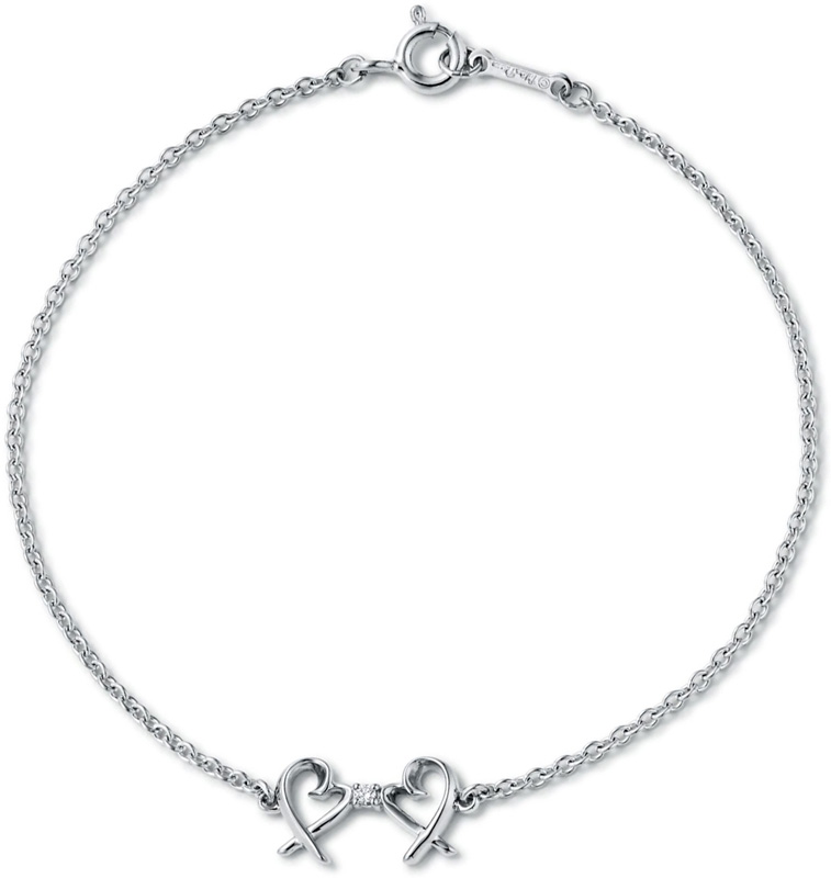 cf54cdbba7fd Circle charm with Tiffany T CO ring bracelet silver double chain sterling  silver 1837 BRACELET accessories carved seal