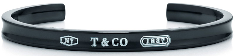Tiffany&Co. ティファニー1837ナローカフブレスレットチタンブラックスターリングシルバー925バングル アクセサリー TITAN S M L T&CO刻印 Bangle BRACELETスモール ミディアム ラージ