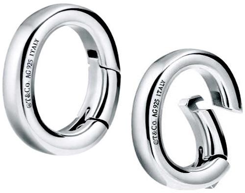Tiffany&Co. ティファニーキーホルダーチャーム プチキーリングキーホルダーにアクセントをスターリングシルバー925クラスピングリンクリンクを開くとチャームなどを付けることができますcharms clasping link