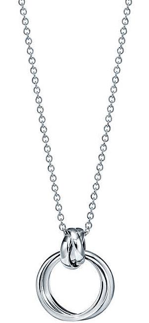 Tiffany&Co. ティファニー2連リングが絡み合ったデザインペンダントネックレスミニリング シルバーチェーンスターリングシルバー アクセサリーPENDANT NECKLACEPALOMASMELODYMINIパロマメロディコレクション