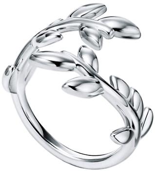Tiffany&Co. ティファニー 指輪オリーブの葉っぱインスピレーションスターリングシルバーオリーブリーフバイパスリングアクセサリー OLIVE LEAF RING約7号 約9号 約11号 約16号 約17号