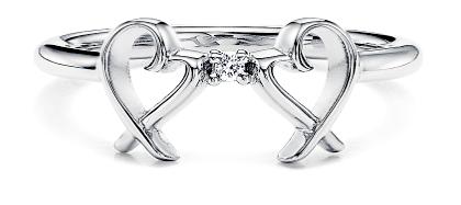 Tiffany&Co. ティファニー指輪ラウンドブリリアントカットダイヤモンドリング二つのハートが0.01カラットダイヤで紡ぐラヴィングハートリングスターリングシルバー925パロマピカソ ダブルラビング約7号8号9号10号11号13号15号16号17号18号#4-8.5