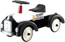 パトカー ブラック×ホワイトメタルスピードスターポリスカー ブラック×ホワイトシルバー×ブラック ワインブラウン×アイボリー子供用ペダルカー&ライドオン[乗り物玩具 乗用玩具]警視庁METAL PEDAL CARS&MORE FOR KIDSAge1-3