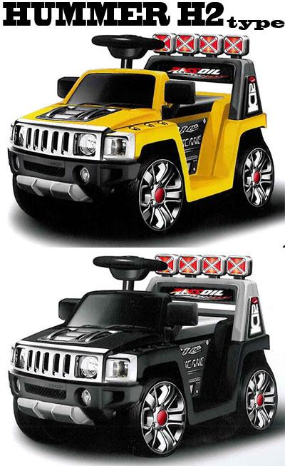 バッテリーで動くSUV車お子様をラジコンカーに乗せて操縦は離れた場所からリモコンで?!ラジコン&電動乗用カーが一つになった!ハマーH2タイプ イエロー ブラック オレンジもちろん車のハンドル操作も可能です。RIDE ON HUMMER H2 type R/C