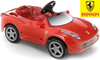 Ferrari 458 Itaria スーパーカー子供用電動乗用カー イタリアの名車 フェラーリ公認 レッドアクセルを踏むだけの簡単操縦お子様へのプレゼントにオススメ!Ferrari 458 6v Battery-Powered Ride-On