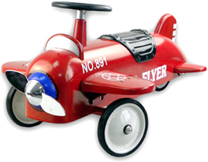 Altberg ARTABURG 空气平面红骑在 artaberg 金属乘坐飞机红色白色 x 蓝色螺旋桨飞机儿童四轮驱动踏板车 & 骑 [车辆,骑玩具,飞机飞机