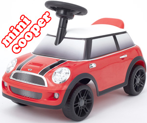 ローバー ミニクーパータイプイギリスデザインのタイリッシュなボティーフレームインテリア性も十分なスマートデザインROVER MINI LONDON STYLEレッド お子様へのプレゼントに最適キックカー 足蹴り ライドオン 乗用玩具