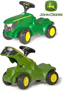 ドイツ製の働く車ロリートイズ ジョンディアミニ人気のロリーキッズシリーズ!ドイツ製おもちゃ 子供用玩具rolly toys JOHN DEERE mini 132072グリーン×イエロー足けり乗用 足蹴り キックカーお子様のファーストカー ライドオン