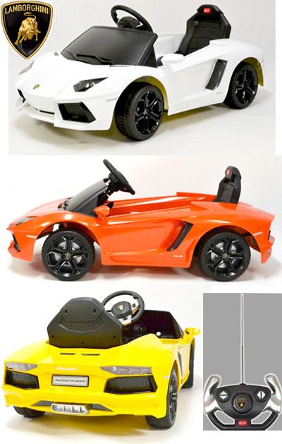 リアルエンジン音 乗って運転したり&乗せてラジコン操作スーパーカー アヴェンタドールラジコンと電動乗用カー 電動乗用ラジコンカーランボルギーニ 正規ライセンス ホワイト レッドオレンジ イエロークラクションやヘッドライトも搭載プレゼントに