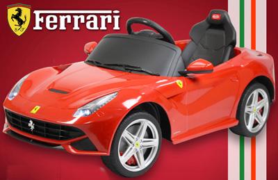 フェラーリ正規ライセンス商品イタリアの名車 フェラーリ ベルリネッタ スポーツカーFerrari F12 berlinetta子供用電動乗用玩具 レッド イエロー ホワイト電動乗用ラジコンカー ライドオン 乗り物バッテリーカー 遠隔操作