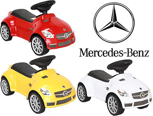 ライドオン クラクション付きホビーカーお子様にもリアルを追求メルセデスベンツ公認デザインMercedes Benz SLK 55 AMGドイツ名車 乗用玩具 ボビーカーホワイト レッド イエロープレゼントに!足こぎ 足けり おもちゃ キックカー 乗用玩具