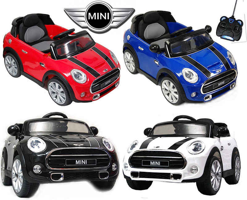 シートベルト付き安心最初の車の運転を経験遠隔ラジコン操作も可能クラクションが鳴るミニクーパー 電動乗用ラジカンカーレッド ホワイト ブラック ブルーラジコン乗用玩具 おもちゃお子様へのプレゼントに