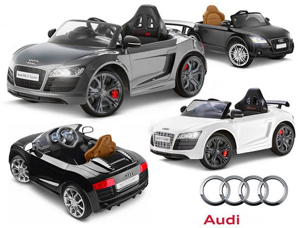 電動乗用カー スポーツカーアウディ R8 スパイダーブラック グレー ホワイトお子様が最初に乗るミニカー 一人で運転クラクションやヘッドライトも搭載正規ライセンス品ならではの仕上がりPower Wheel Audi SPYDERバックもできる本格派!